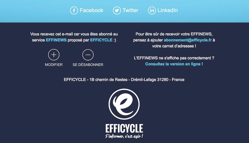 Footer newsletter Efficycle
