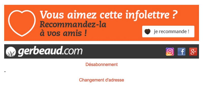 Footer newsletter Gerbeaud