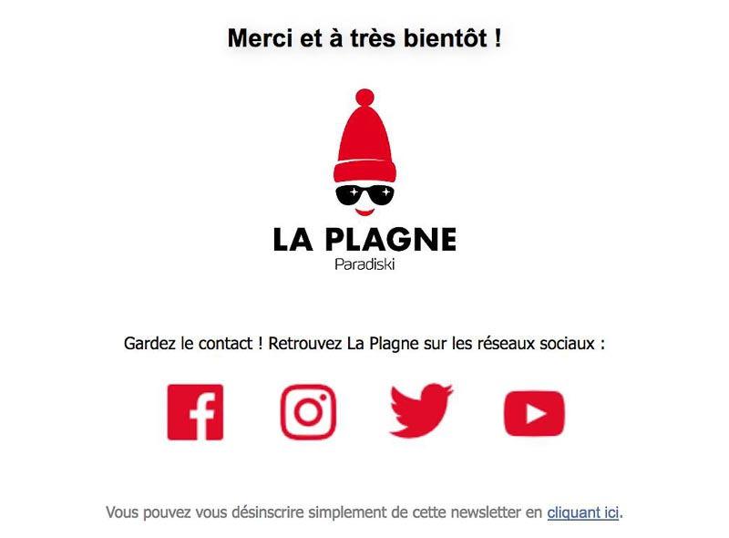 Footer newsletter La Plagne
