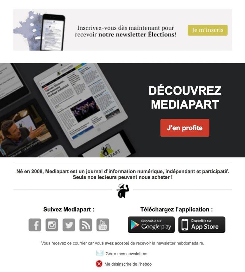 Footer newsletter Mediapart