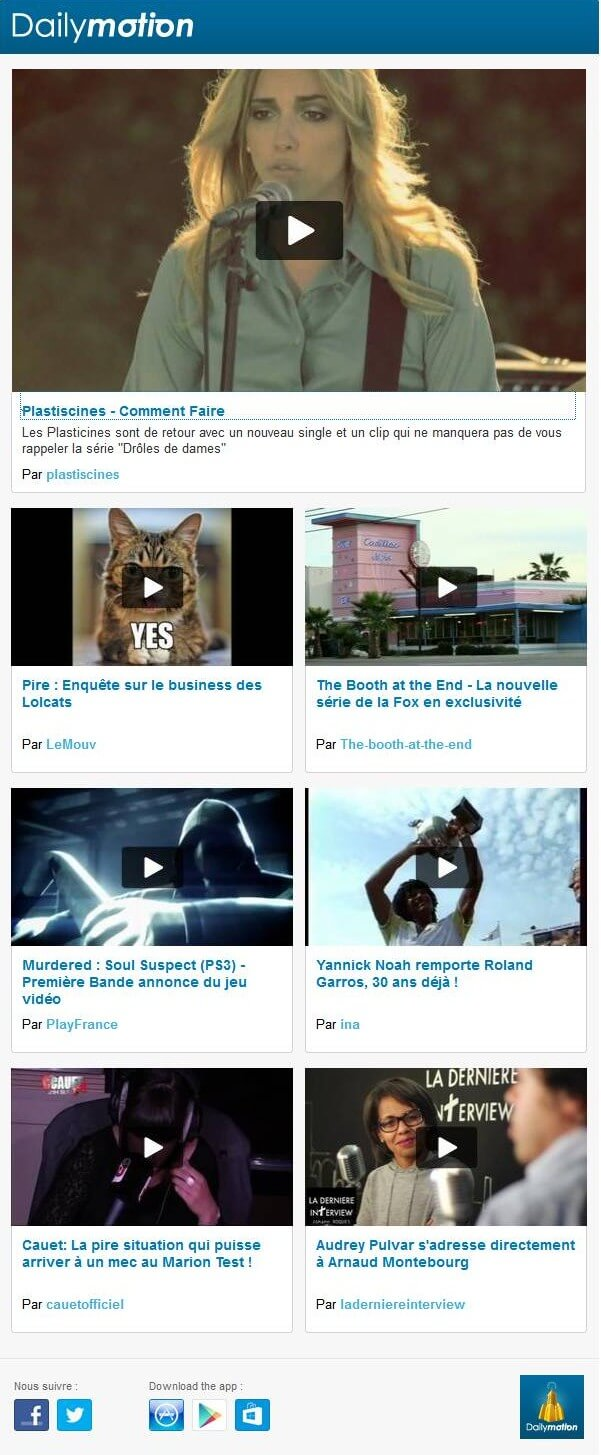 Newsletter Dailymotion
