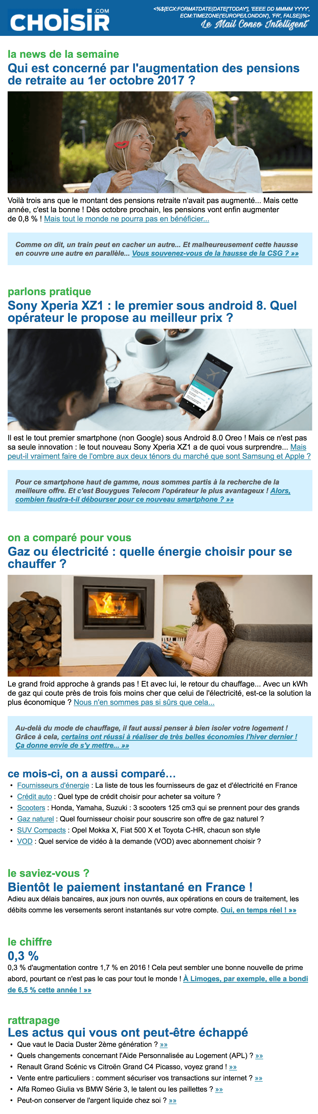 Choisir - Le Mail Conso Intelligent