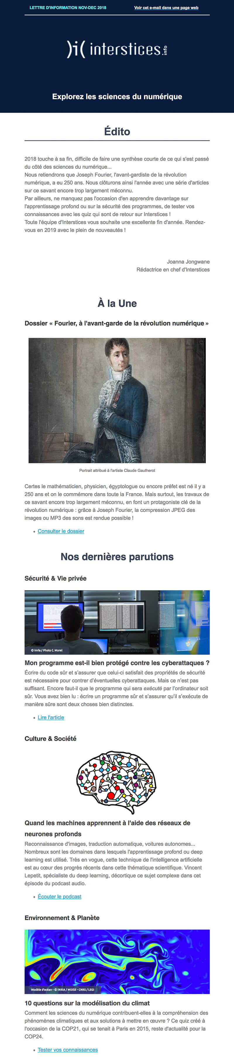 Newsletter Interstices