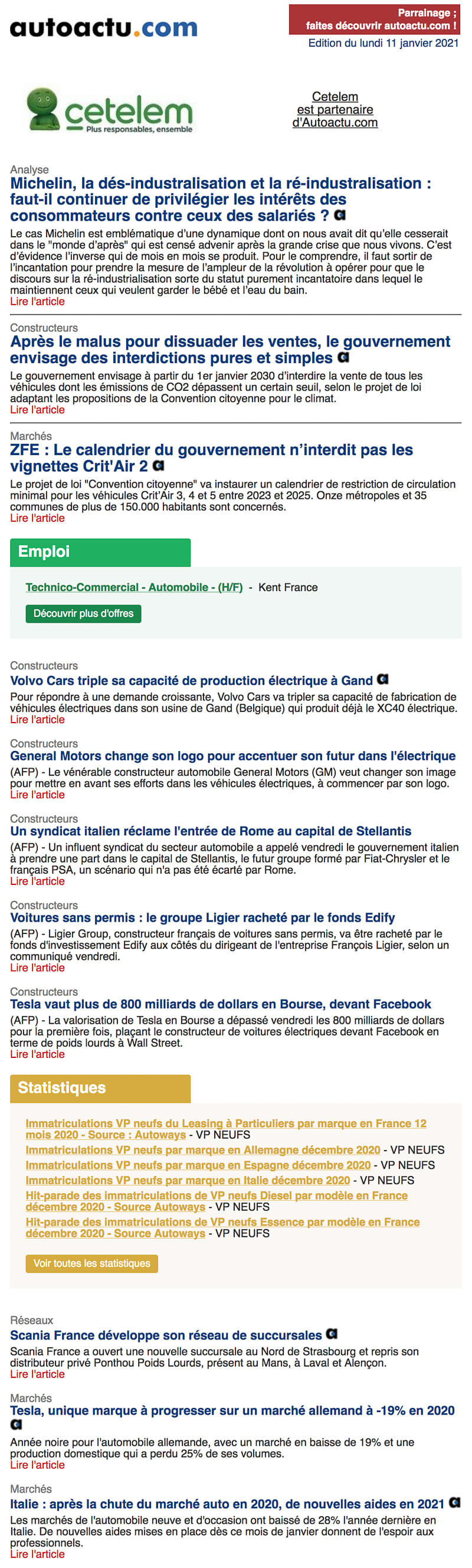 Newsletter Autoactu