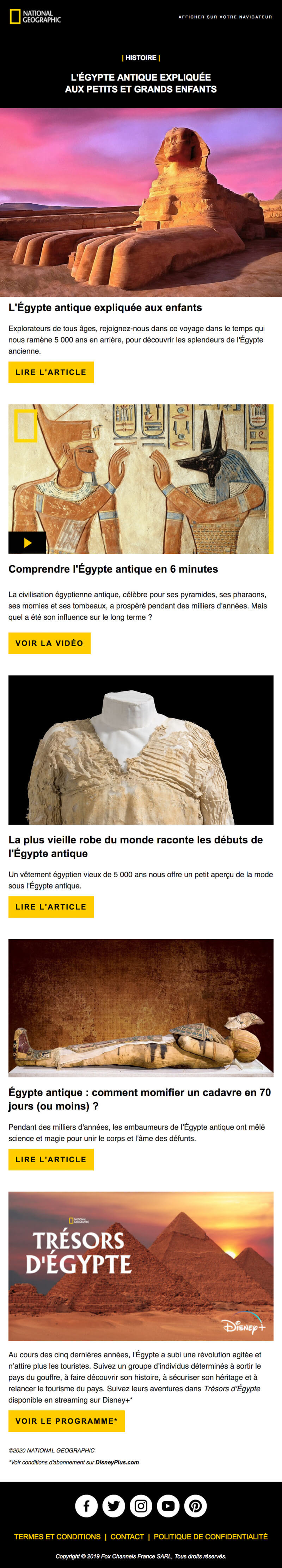 Newsletter National Geographic - Histoire
