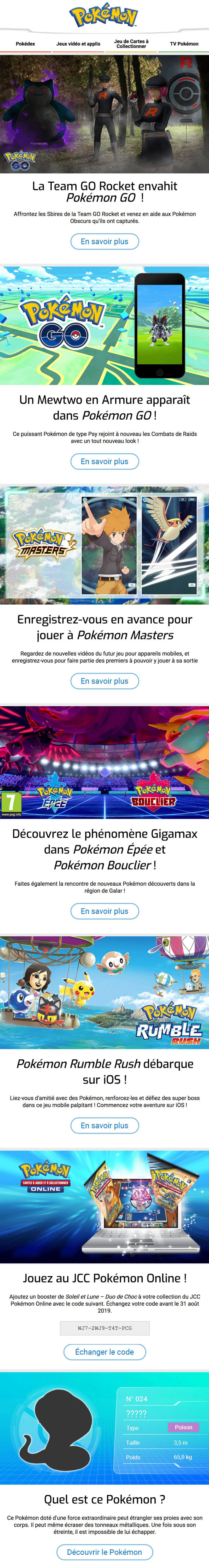 Newsletter Pokémon