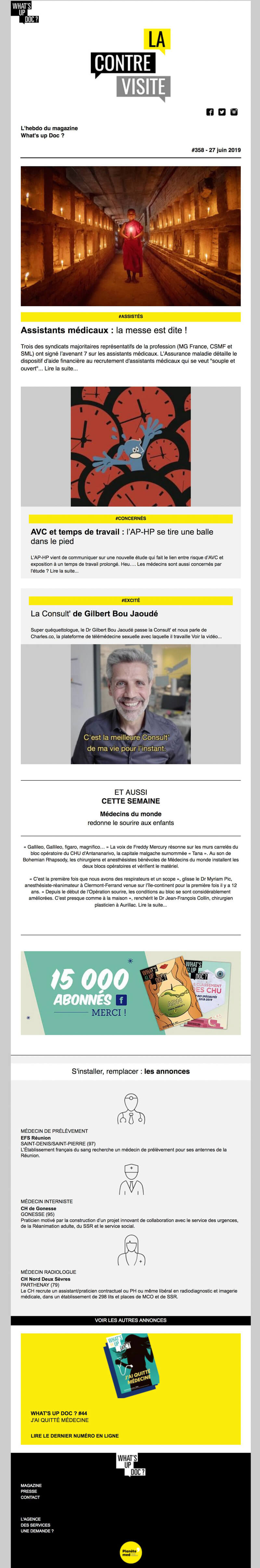 Newsletter La Contre Visite